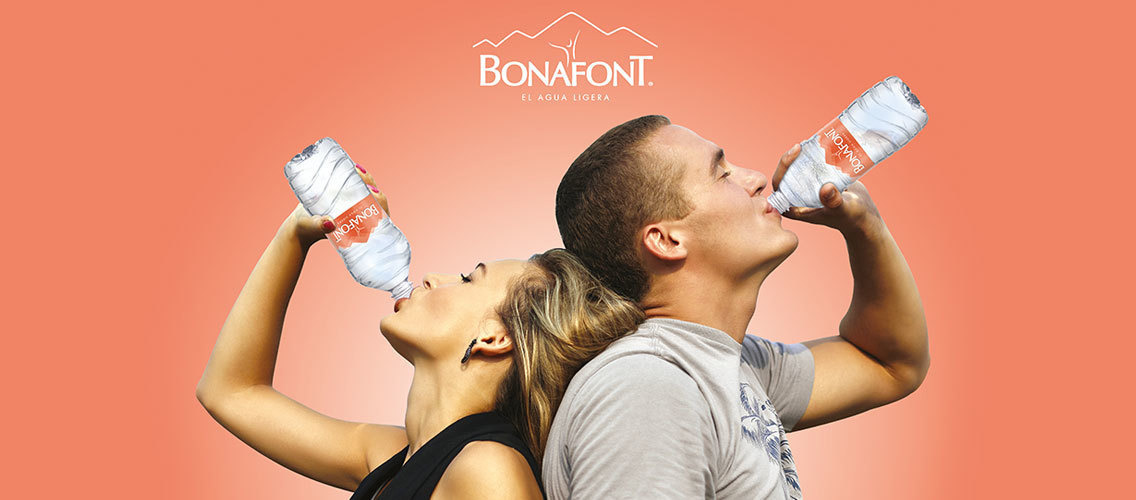 Can you modernize the label of Mexico's number one bottled water, BONAFONT?