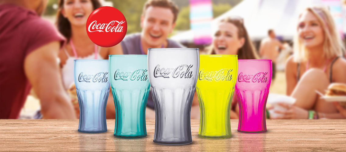 Create the 2019 glass design for Coca-Cola at McDonald's