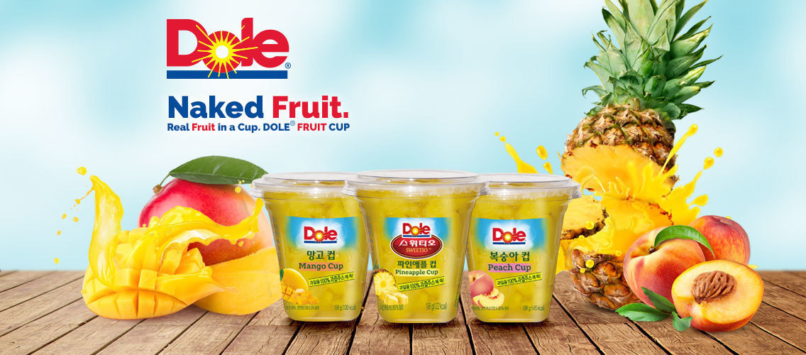 Get naked fruit convenience with Dole fruit cups