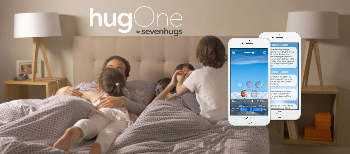 Improve families' sleep quality thanks to hugOne.