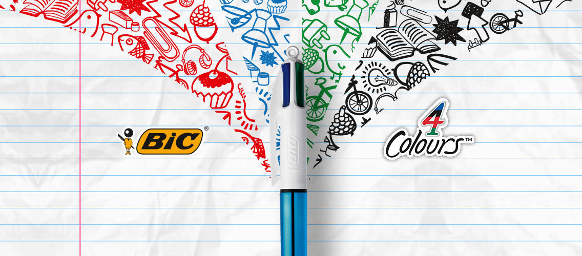 Make BIC 4Colours the essential accessory of young cool people!