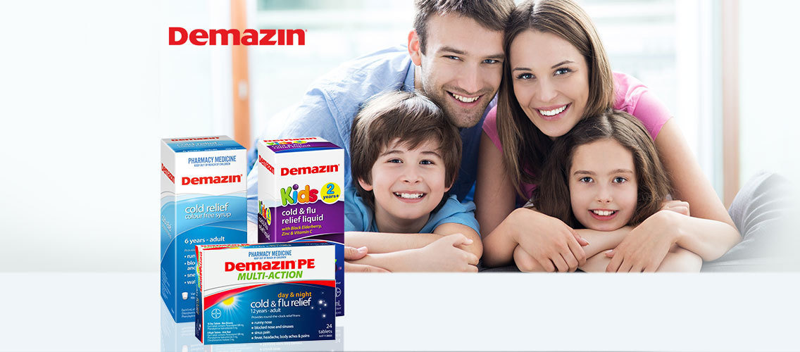 Make mums stop, notice and consider Demazin in store for her and her family's cold & flu relief