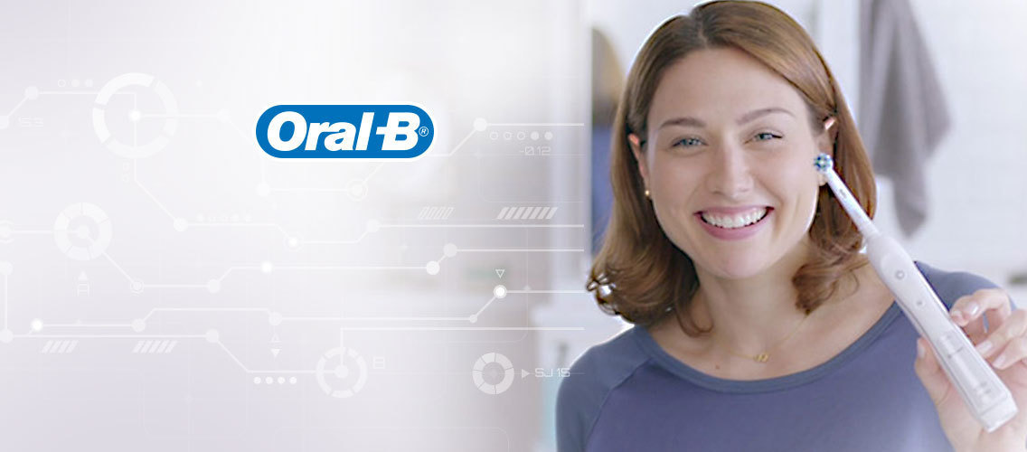 Tell us a story about the Oral-B electric toothbrush's superior cleaning action