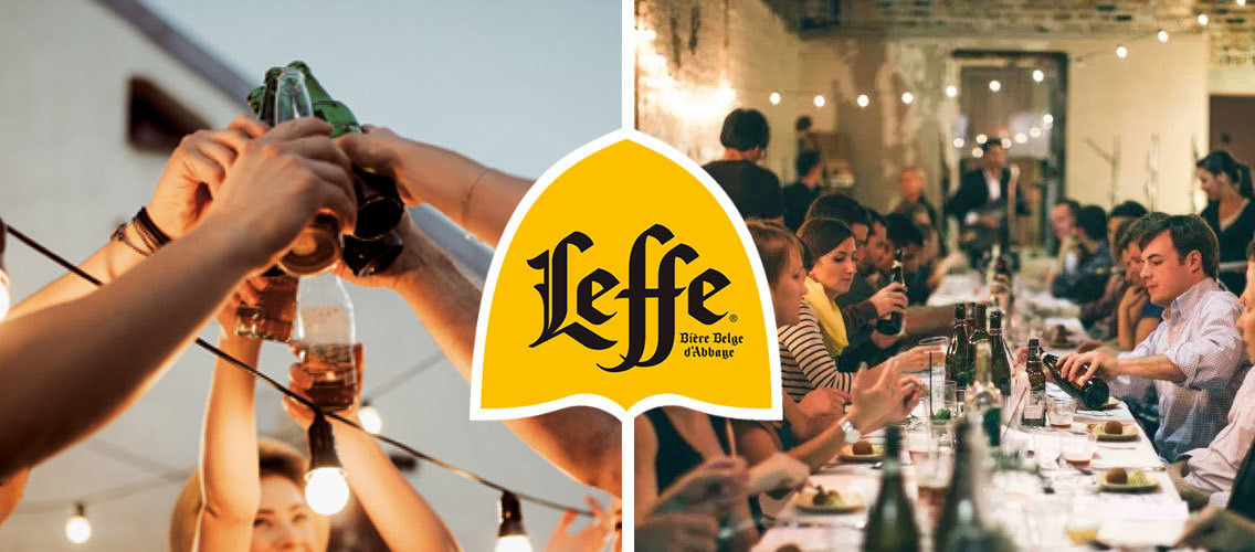 Make Leffe a simple choice for meal occasions by building clear associations with food, in the same way that wine is today!