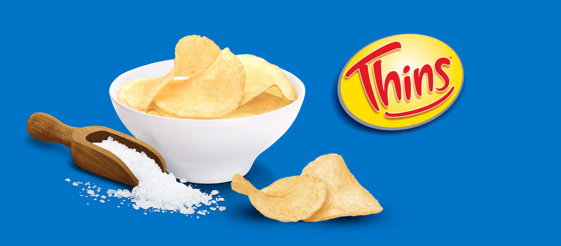 Convince us that Thins brand potato chips are tastier because each Thins chip is thinner and has more flavor.
