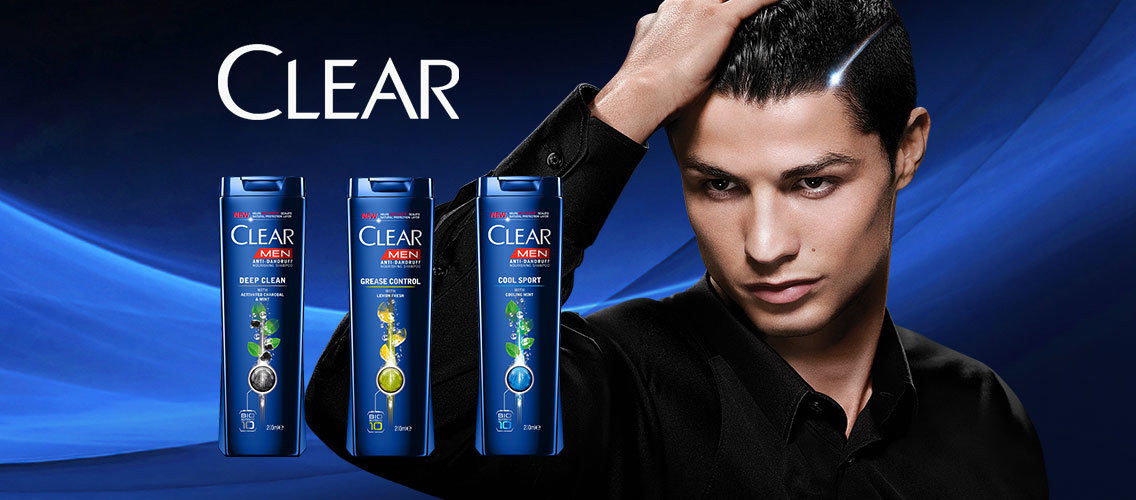 Create a snazzy, new shampoo label for CLEAR MEN!