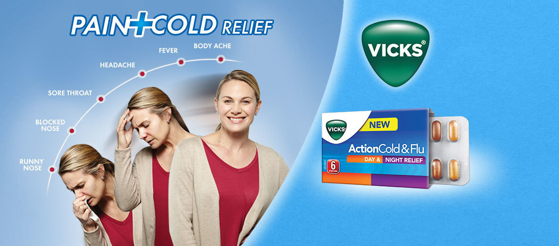 Show us that Vicks Action Cold & Flu is the best way to treat multiple cold symptoms!