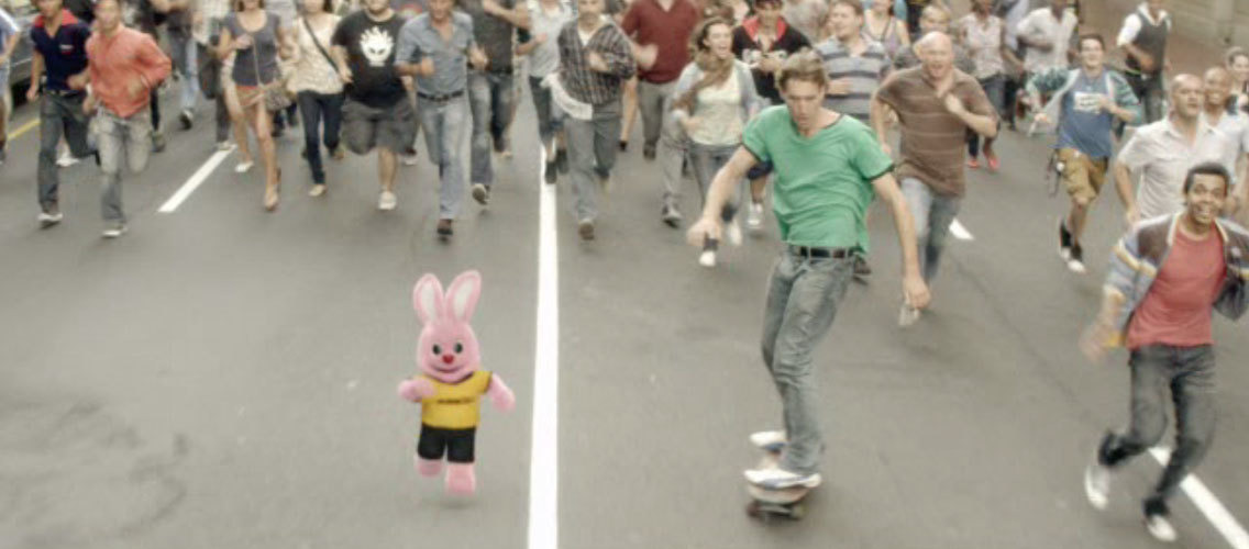 "Show us what it means to be unstoppable ""like the Duracell Bunny"""