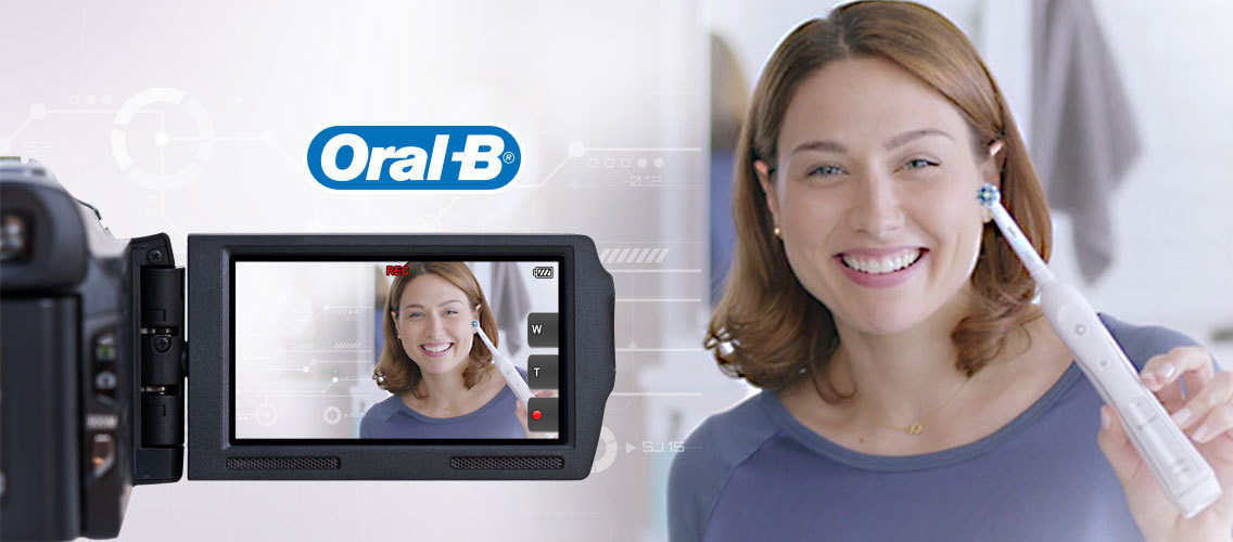 Create a demo video that showcases the Oral-B electric toothbrush's superior cleaning action