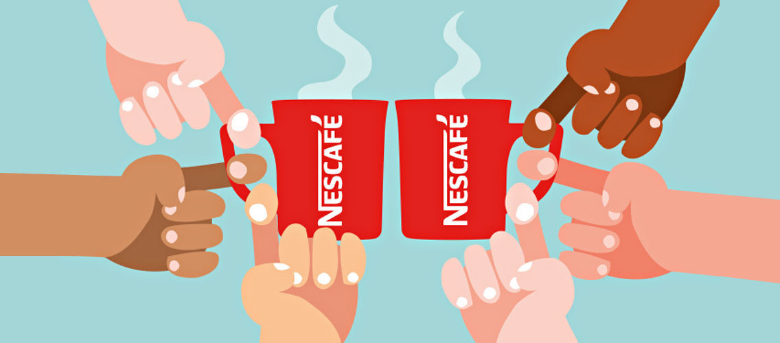 How can a cup of NESCAFÉ trigger real connections?