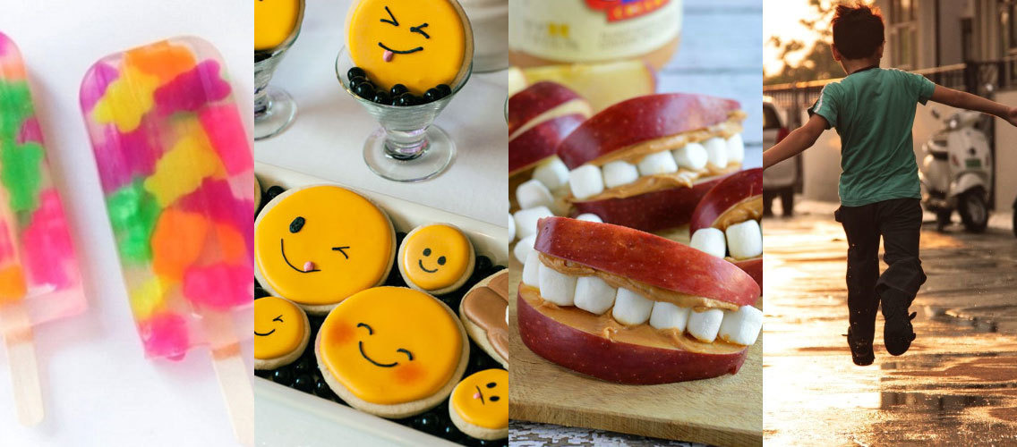 Invent a quirky food complement for preteens at school!
