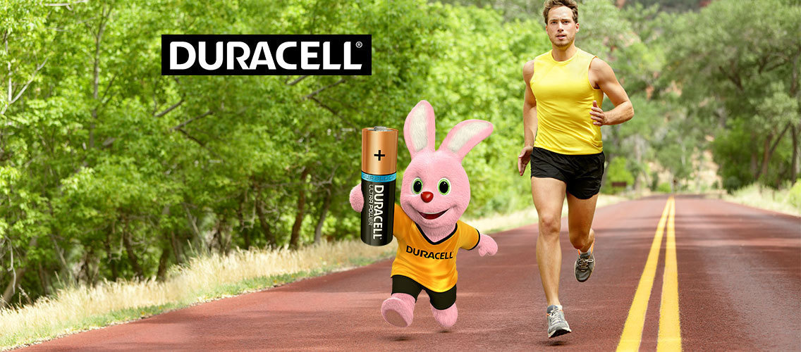 Show how Duracell helps you run for longer!