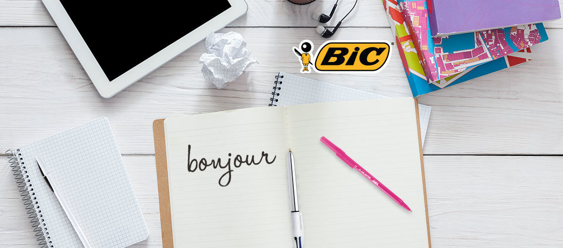 BIC Stationery – Tell us what it means to be a French brand through poster and activation idea