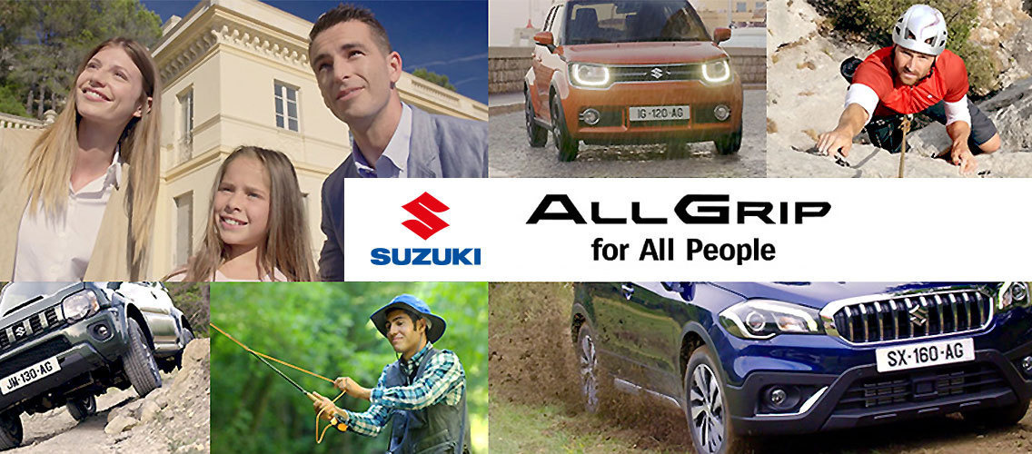 How can you show the emotional benefit of driving a Suzuki ALLGRIP car with a twist?