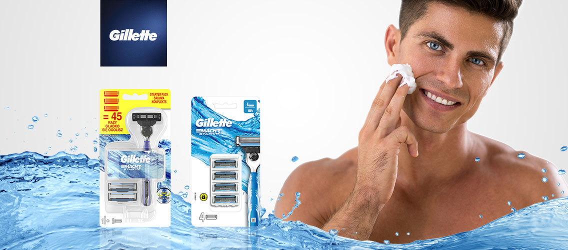 Make Polish men fall for Gillette MACH3 Start refillable razors