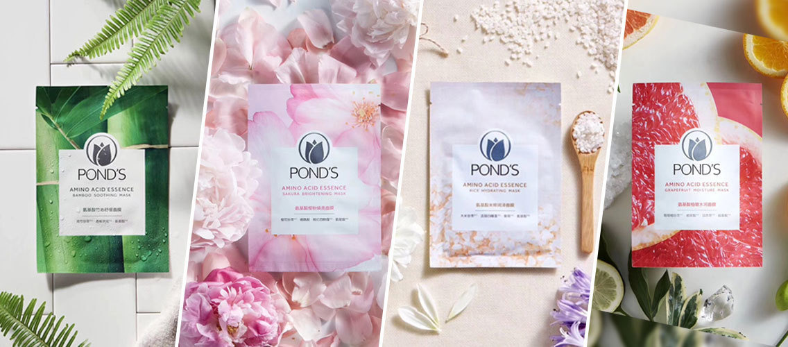 Break the clutter on shelf with a distinctive sheet mask range for Pond's that will delight younger Millennials!