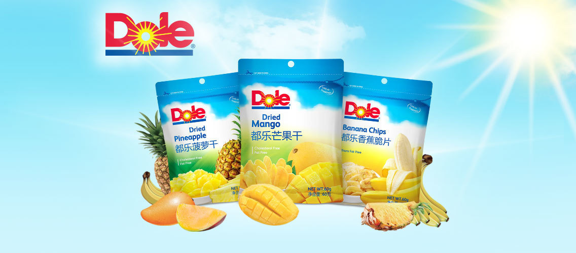 Taste the Sunshine with Dole dried fruits