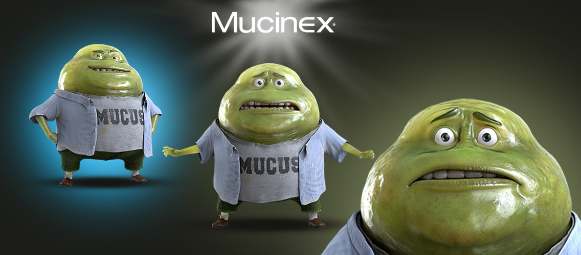 Show how Mucinex tackles mucus at its source through an original demo.