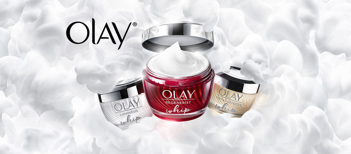 Create the communications idea for new Olay Whips moisturizer designed for young women's skin.