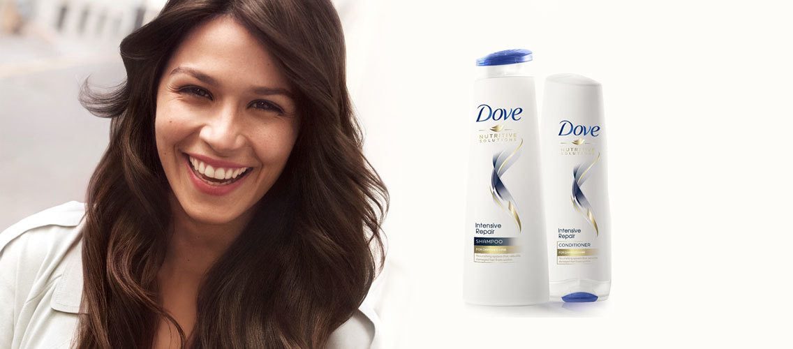 The next Dove conditioner product demo is in your hands!