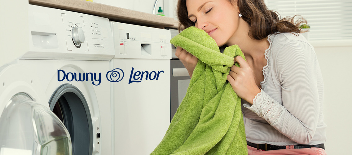 Experience the great duo of Downy/Lenor detergent and fabric conditioner.