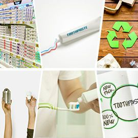 Sustainable toothpaste packaging