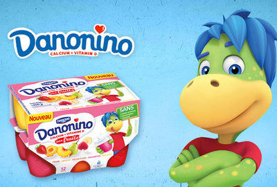 Danonino : Packaging ludo-éducatif