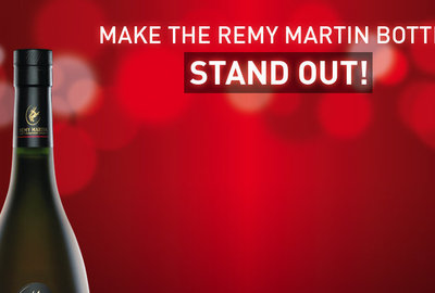 Make the Remy Martin bottle stand out!