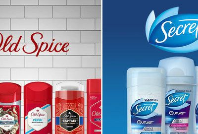 Secret Antiperspirant & Old Spice Deodorant