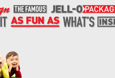 Jell-O: invent a new form and function for Jell-0 packaging!